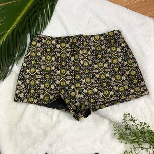 Forever 21 Sparkly Embroidered Shorts